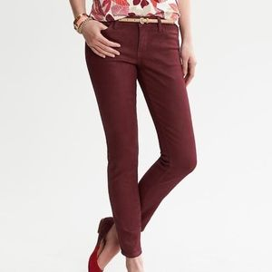 Oxblood coated jeans